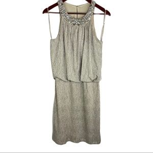 Jackie Jon NY Beaded Neckline Dress Size 10